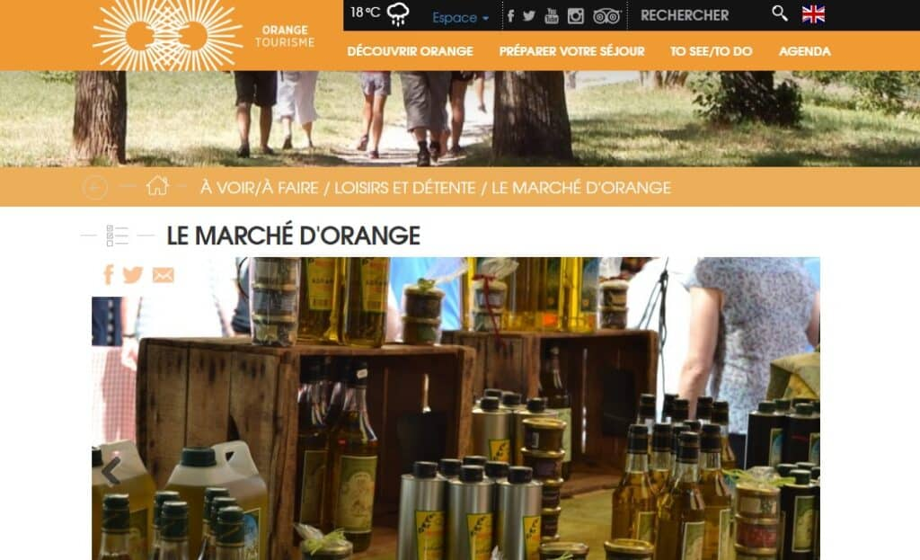 Site de l'Office du Tourisme de la ville d'Orange