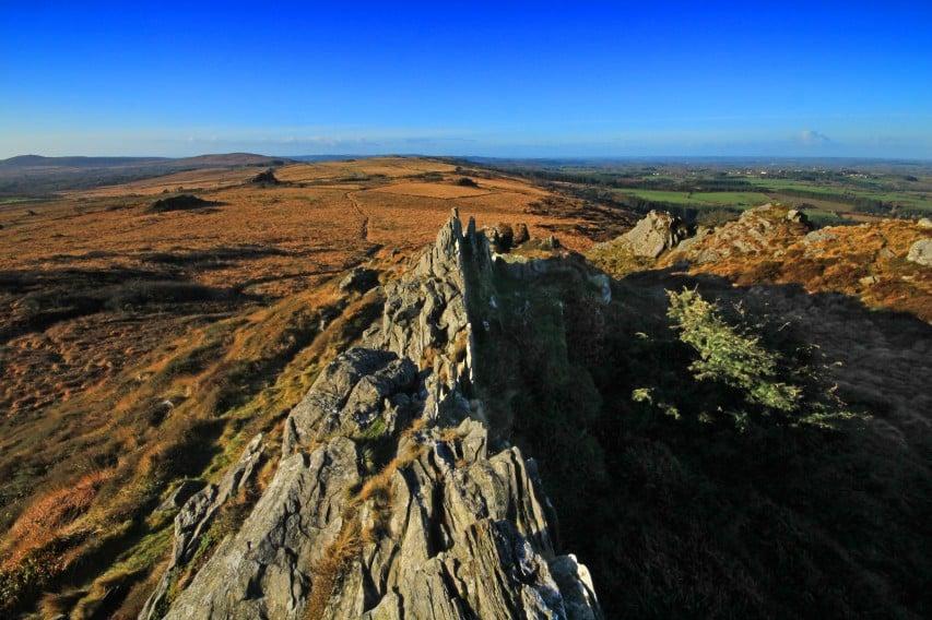 Les chaînes des monts Roch Trévézel à Finistère Nord