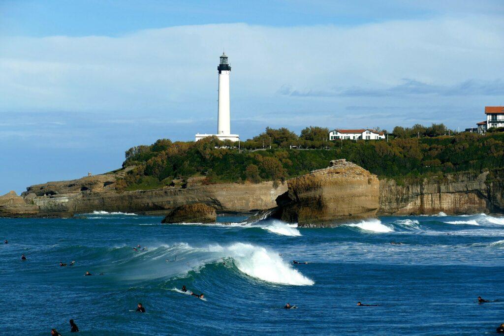 Le Phare à Biarritz