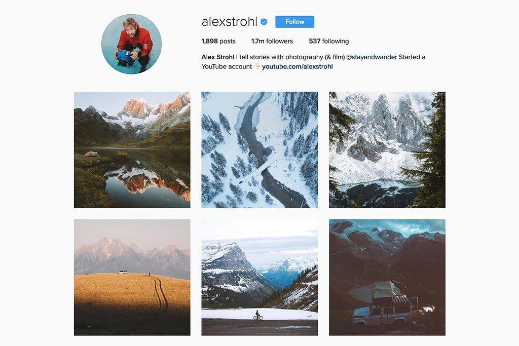 Compte Instagram de Alex