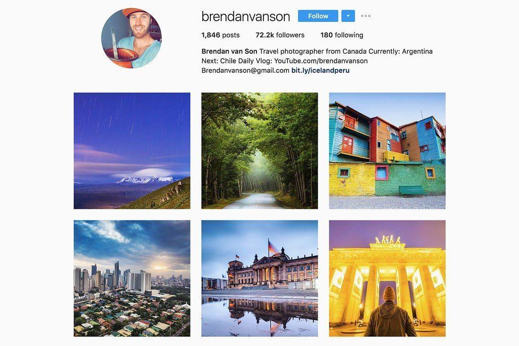 Compte Instagram de Brendan