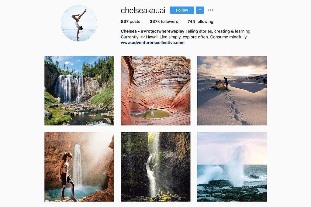 Compte Instagram de Chelsea