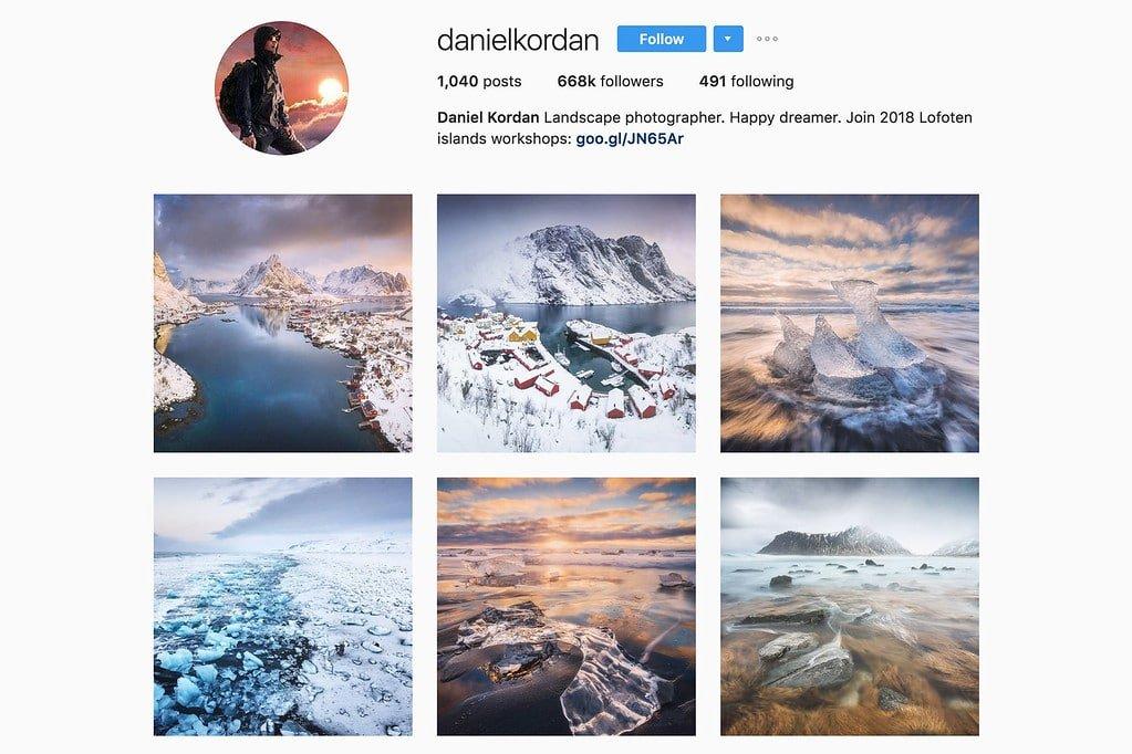 Compte Instagram de Daniel