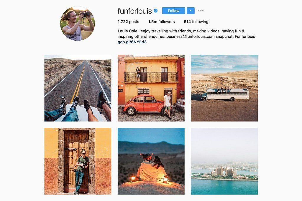 Compte Instagram de Louis