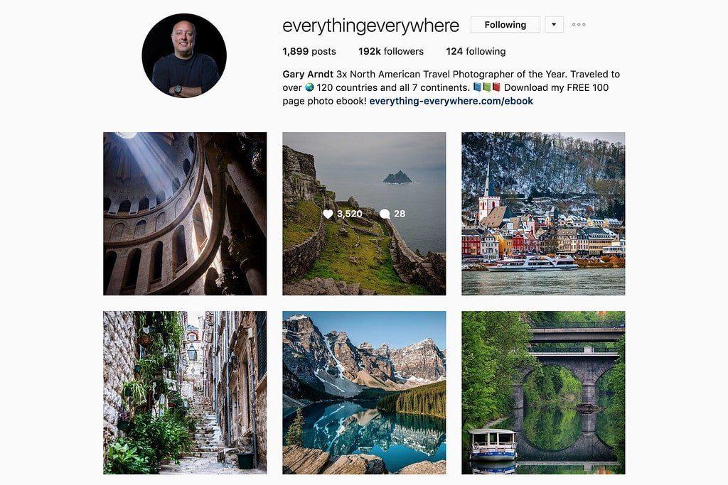 Compte Instagram de Gary