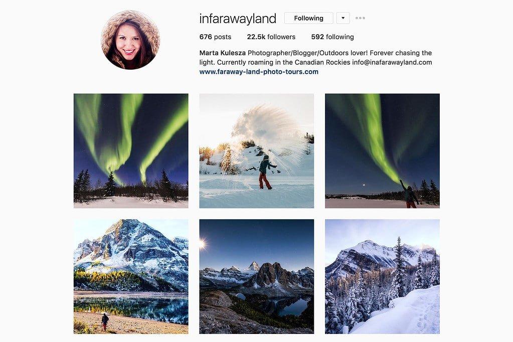 Compte Instagram de Marta