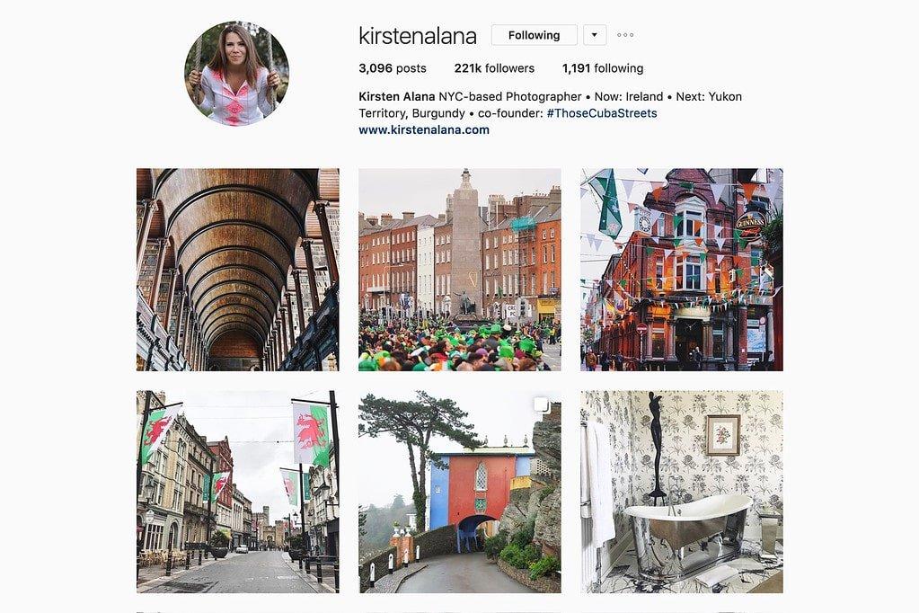 Compte Instagram de Kirsten