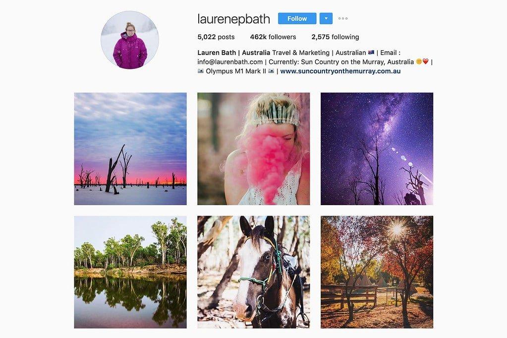 Compte Instagram de Lauren
