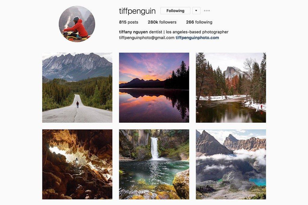 Compte Instagram de Tiffany