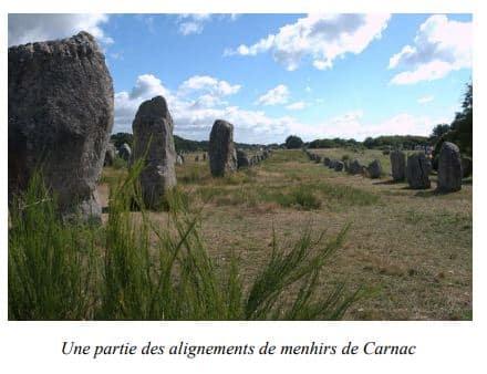 Alignement de menhirs de Carnac, Sud de la Bretagne