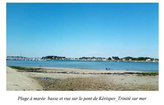 Trinité sur Mer - Plage à marée basse, Sud de la Bretagne