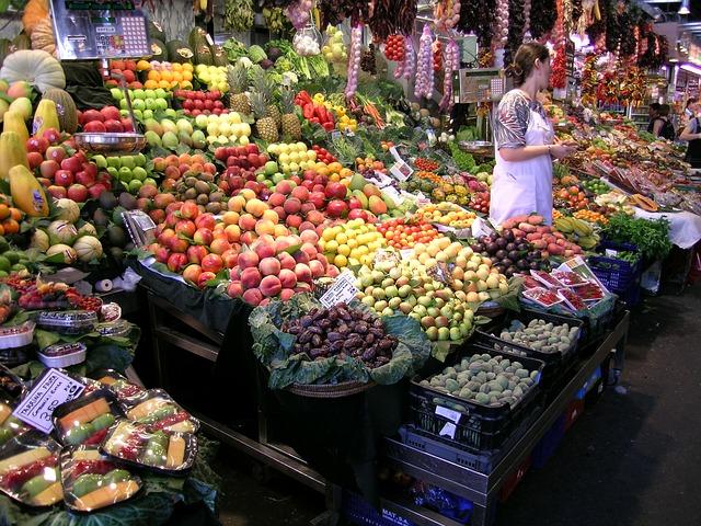 Marché des fruits à Barcelone