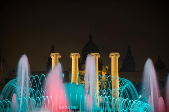 La fontaine magique Barcelone