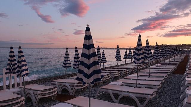 Les plages à Nice