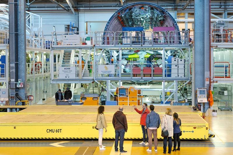 Visite en Airbus