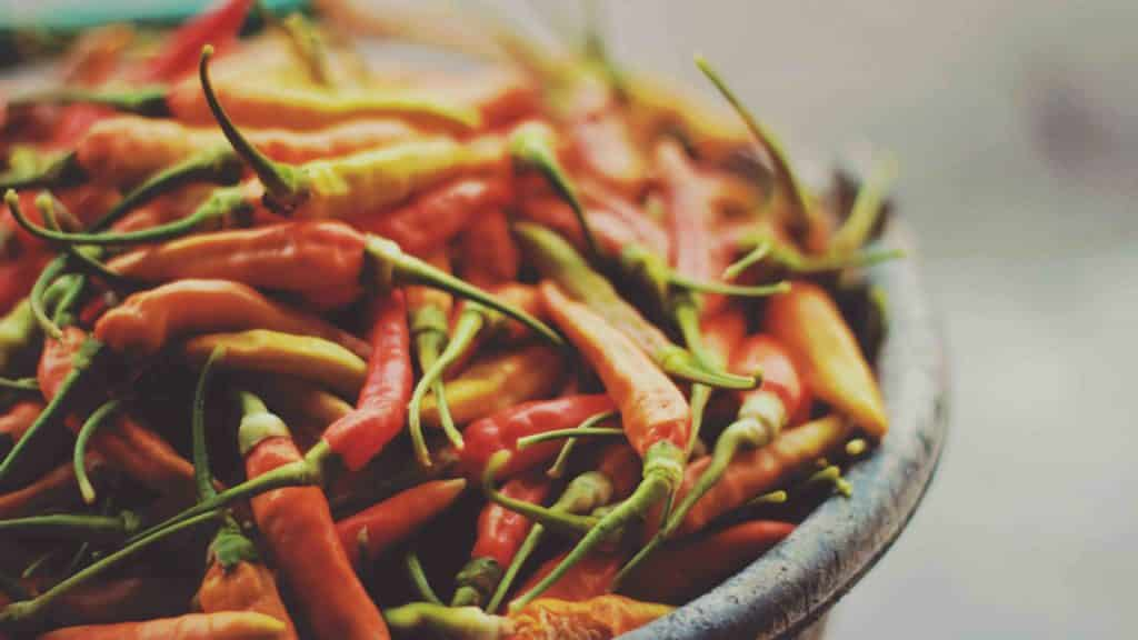 Le chili ou piment dans la cuisine thaïlandaise