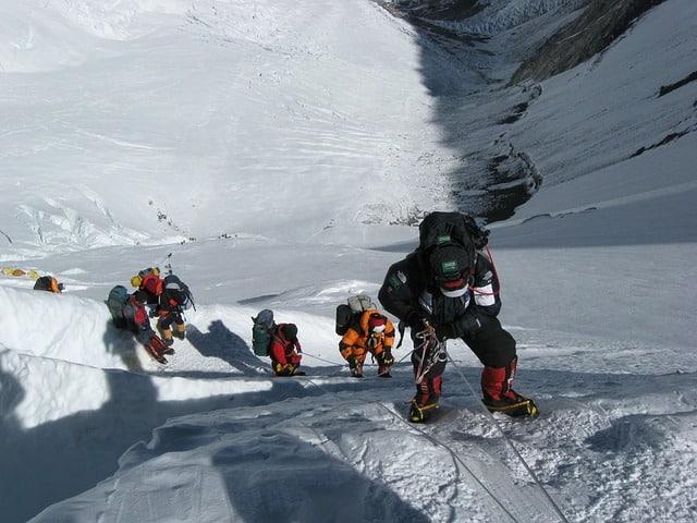 Descente du Mont Everest
