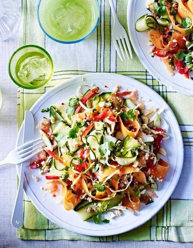 Les salades thaïlandaises végétariens
